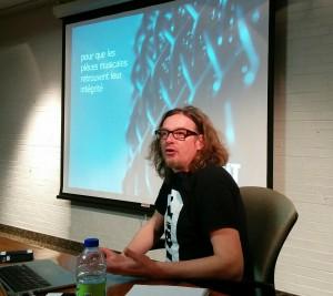 Jean-Robert Bisaillon, présentation de TGiT (Tag ta musique), 28 janvier 2016